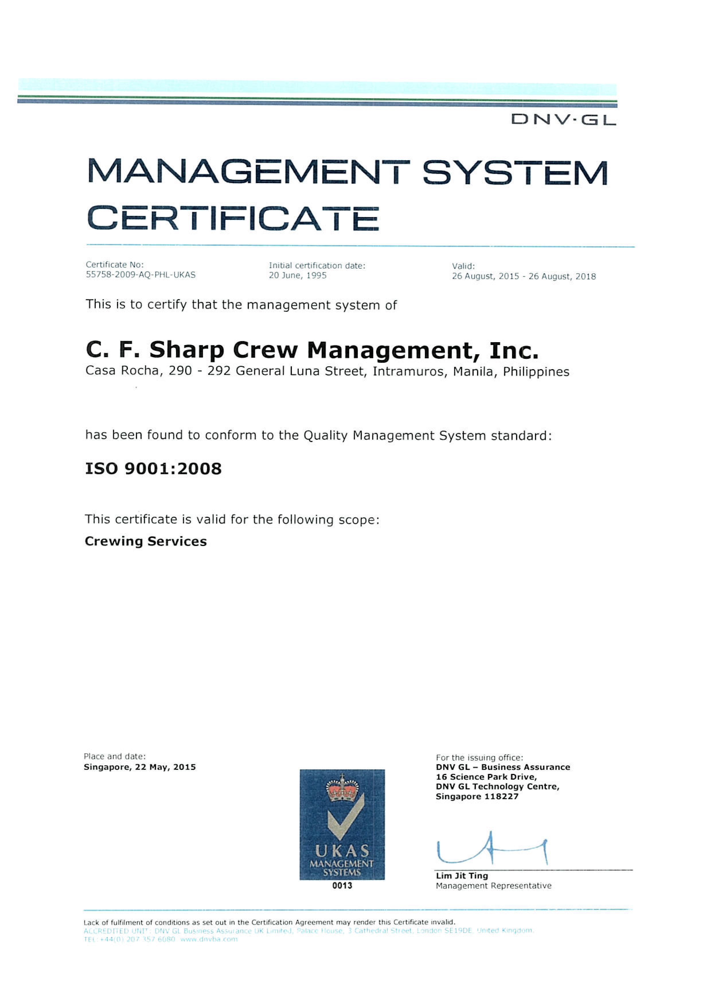 ISO 9001 2008 - 2015